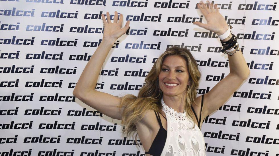 La top brasileña, antes del desfile para Colcci.