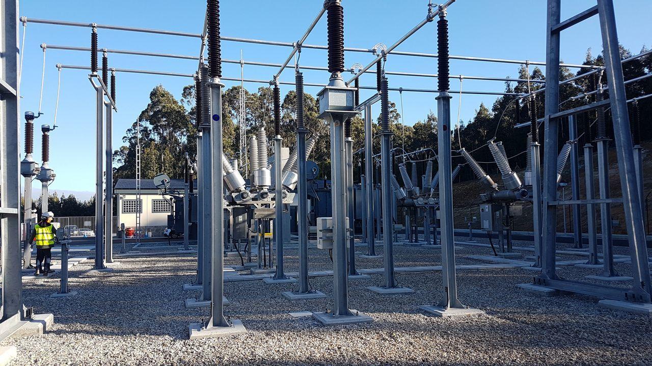 Una subestación eléctrica de Viesgo en Ribadeo asegura luz a 56.000 abonados.Teresa Ribera