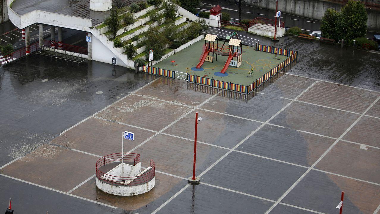 Vigo sin gente durante este domingo