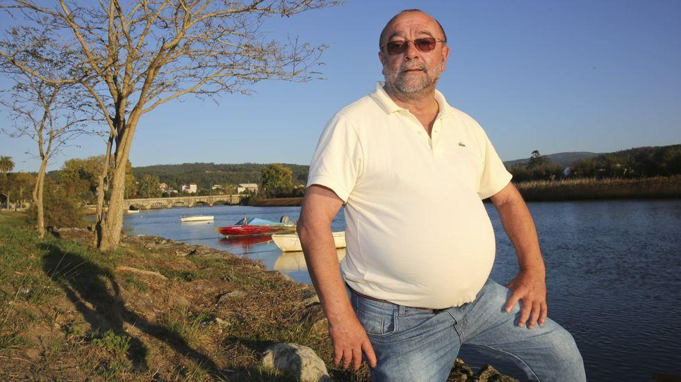 Juan Antonio Amado Castiñeira, en uno de sus regresos a Ponteceso