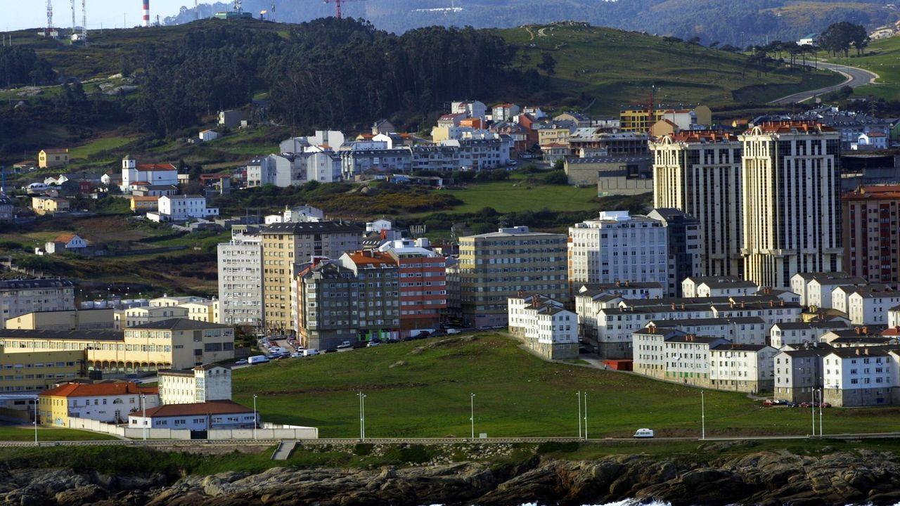 buses.Calle Juan Flórez en A Coruña