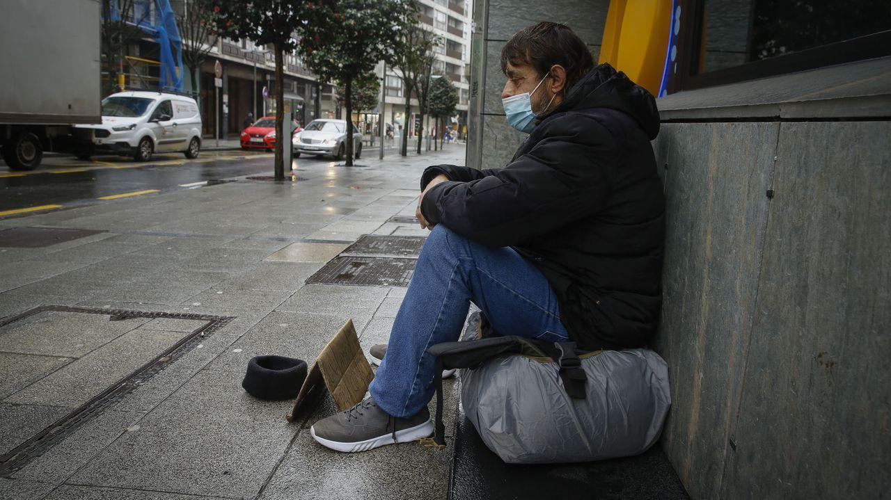 Los efectos de la pandemia también impactan duramente sobre los que menos tienen.Juzgados de Gijón