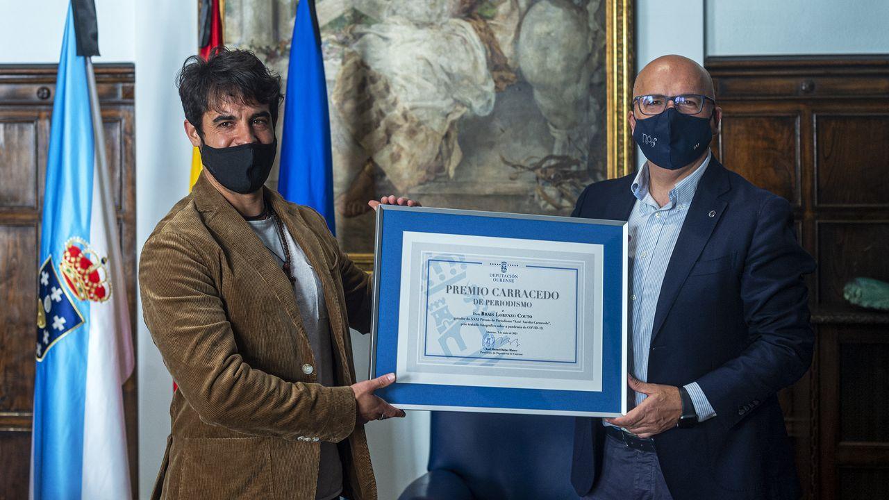 Entrega del premio Carracedo al fotógrafo Brais Lorenzo