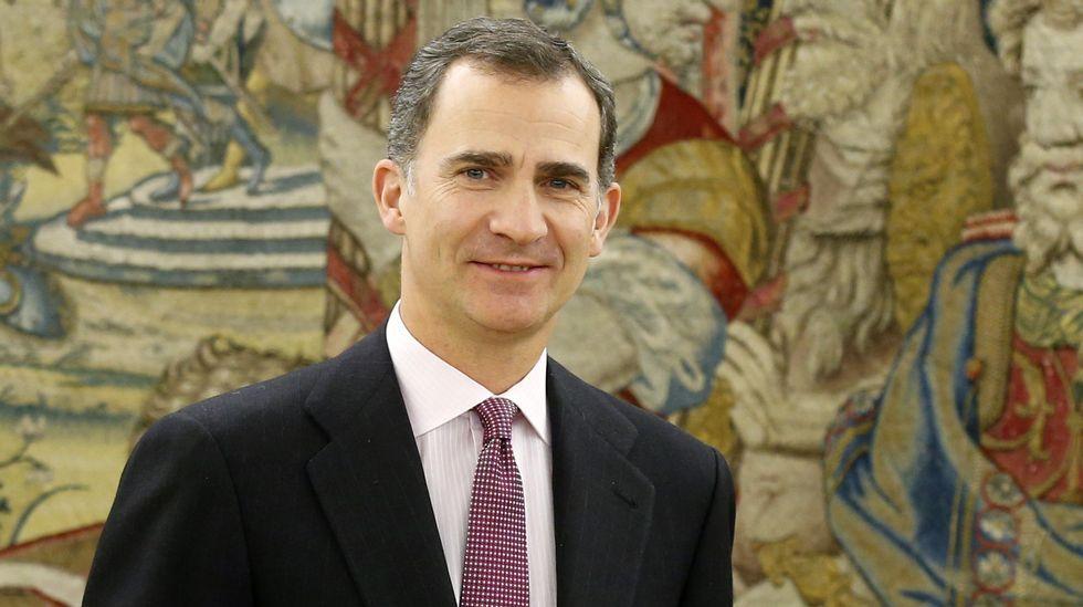 Dinero.Felipe VI, ayer en una audiencia en Zarzuela