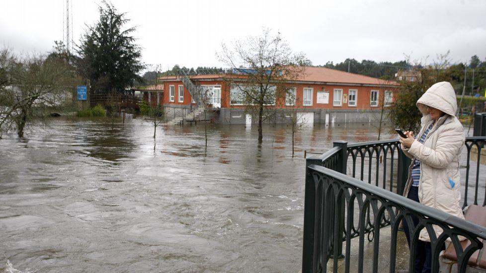 Desbordamiento del río Umia en Cambados.