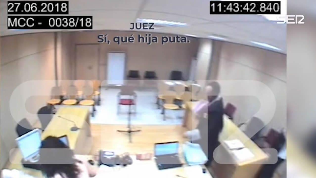 Desolación en Totalán tras el hallazgo del cuerpo sin vida de Julen.Captura del vídeo publicado por la Cadena Ser en el que se escucha a tres miembros del tribunal una vez acabada la vista
