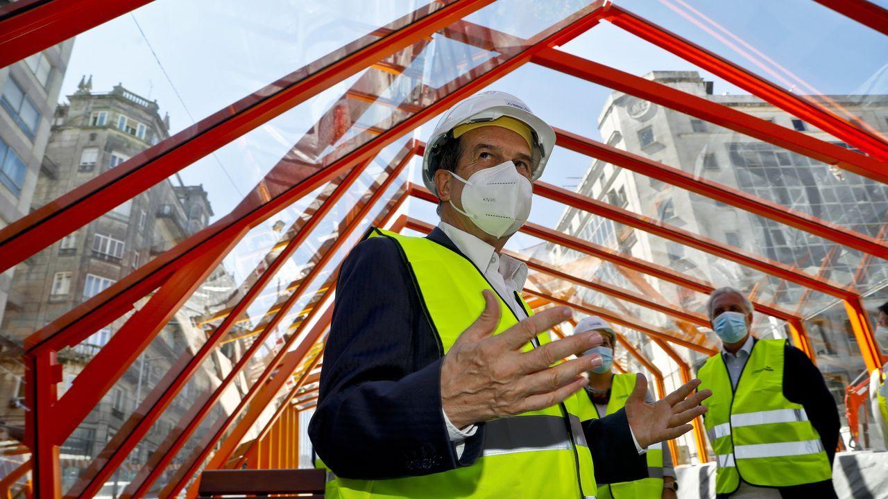 Abel Caballero visita a las obras de la rampa de Gran Vía.Vista de las instalaciones de Vulcano, hoy