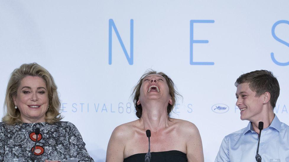Catherine Deneuve, Emmanuelle Bercot y Rod Paradot