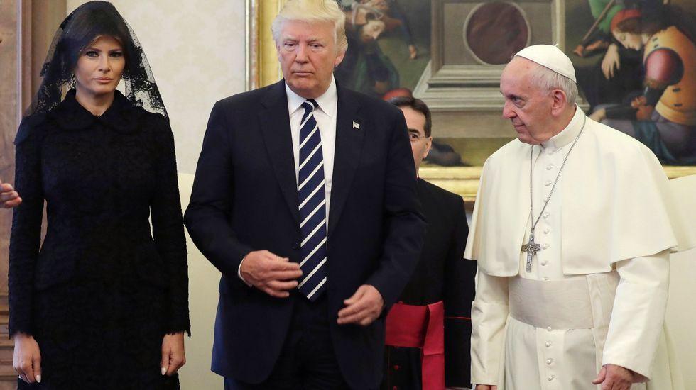 Las imágenes de la visita de Donald y Melania Trump al Vaticano