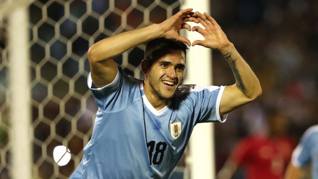 Maxi Gómez anota con Uruguay ante Panamá