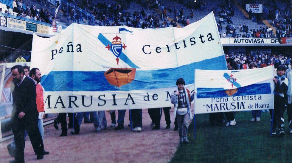 Marusía nació en Moaña en 1994 y es una de las peñas más veteranas del club