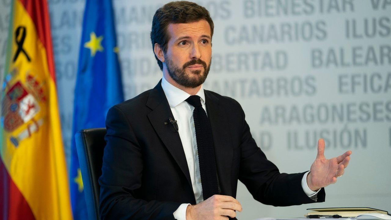 Entrevista ciudadana a Adrián Barbón.Pablo Casado visita con el alcalde de Madrid, José Luis Martínez Almeida, el Centro de Pantallas de Control de Madrid