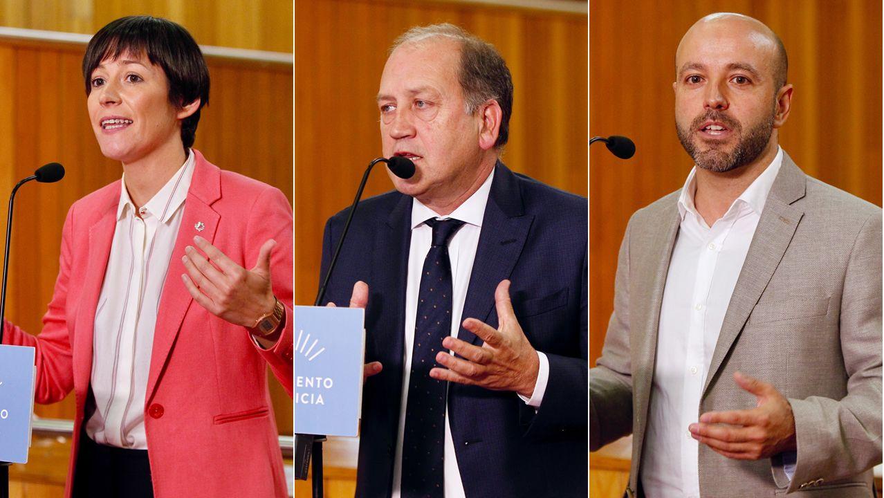 El presidente combina la mano tendida a PSOE y BNG con el garrote a En Marea.Pontón, Leiceaga y Villares