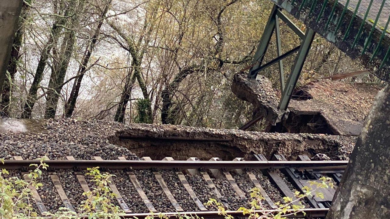 Imagen de los daños causados por el desprendimiento