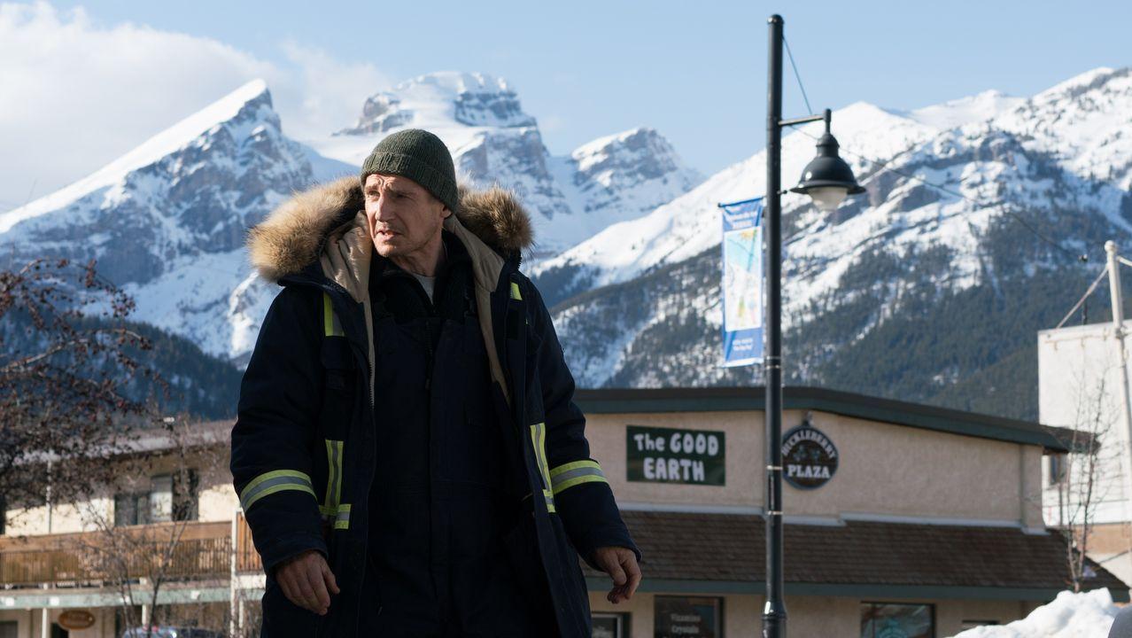 Neeson, en un fotograma del filme «Venganza bajo cero»