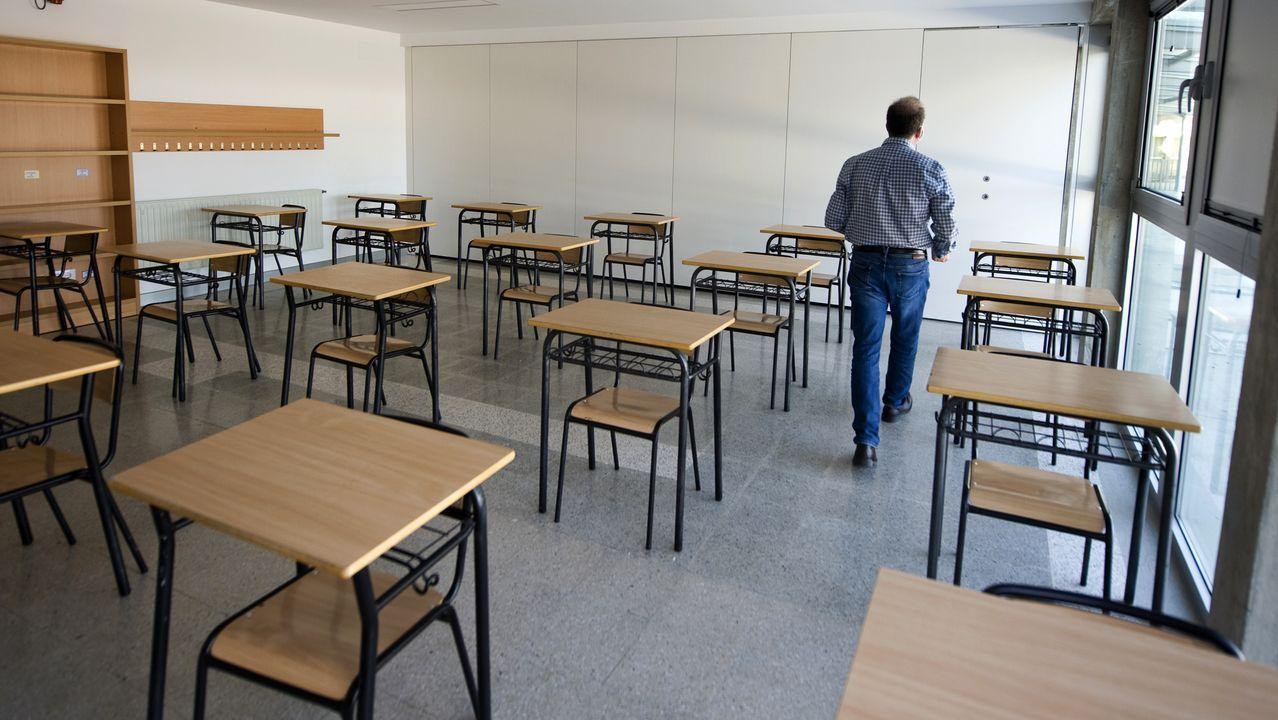 Imagen de un aula del Santa María del Mar adaptada para el inicio del curso escolar