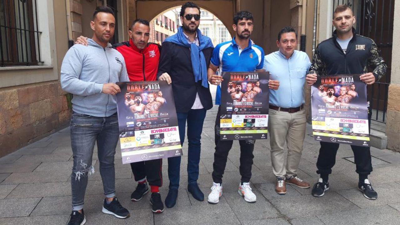 Presentación de la velada de boxeo «Doble o nada» de Oviedo