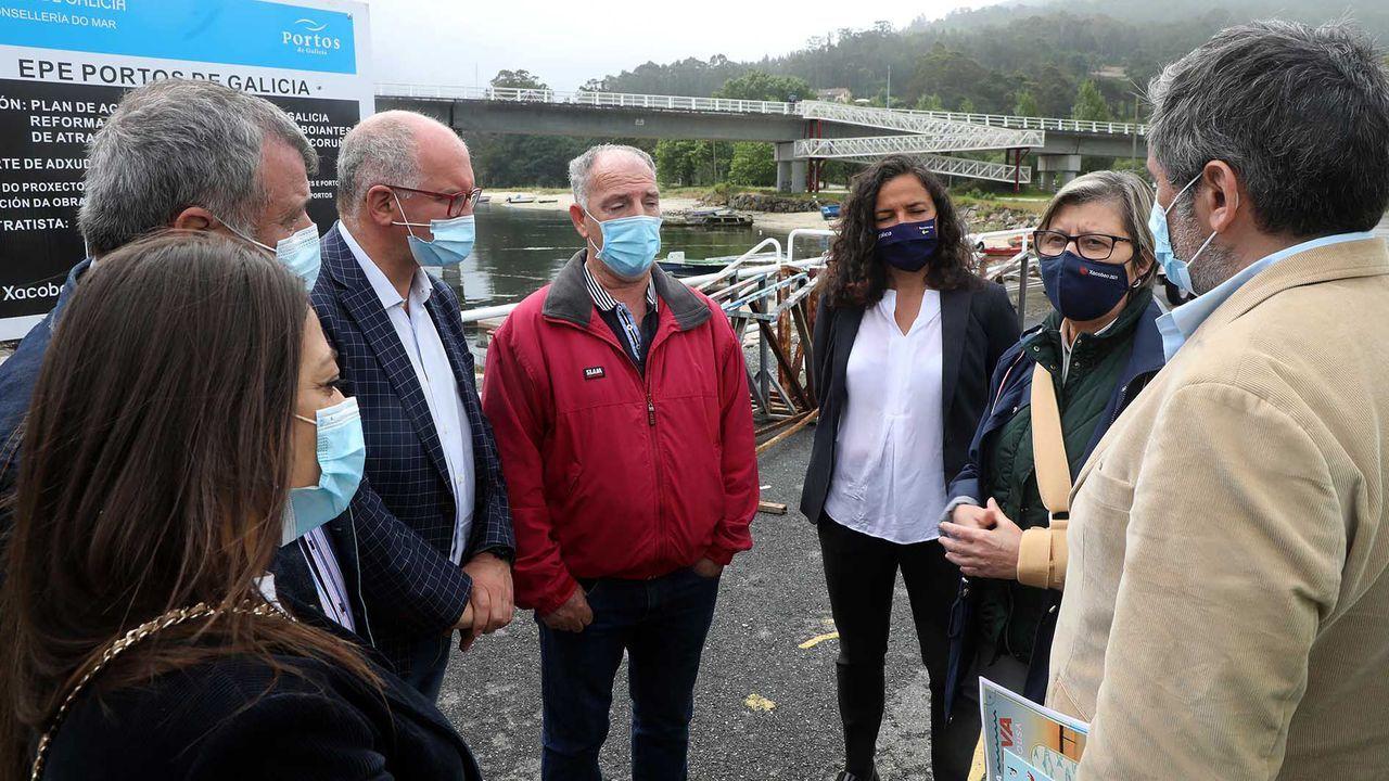 Rosa Quintana visitó las instalaciones para comprobar cómo se desarrollan las obras