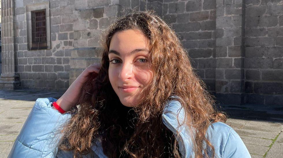 Goteras en el hospital de Monforte.Lucía Álvarez Domínguez se propone estudiar Derecho en A Coruña