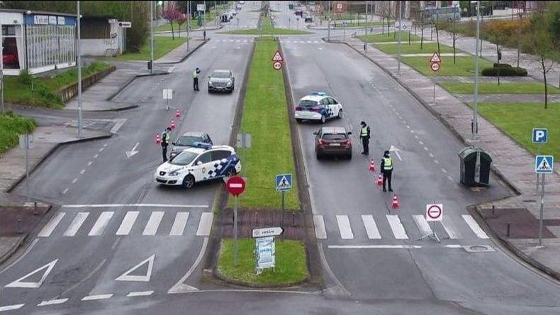 Un control de la Policía Local de Lugo