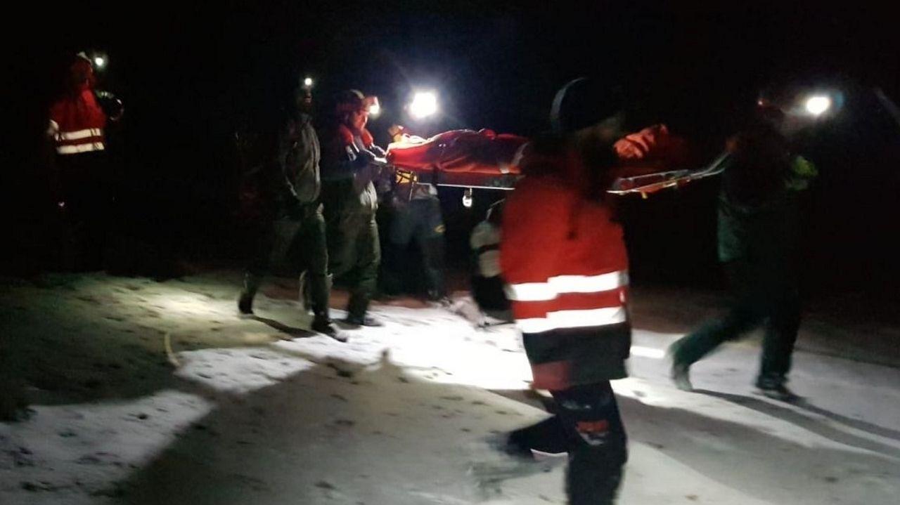 Los ladridos de una perra guiaron a los rescatadores en Palombera