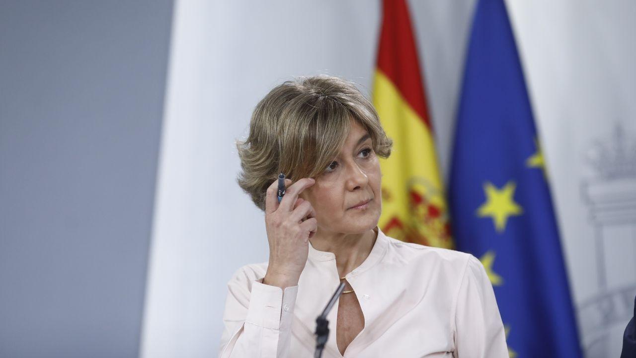 Isabel García Tejerina cuando ejercia como ministra de Agricultura en el 2018