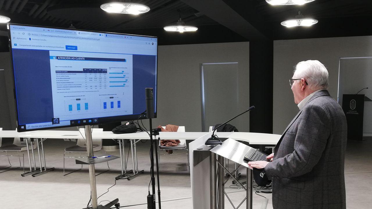 Pedro Figueroa, director del Observatorio Efecto PO2, en la presentación de los datos en el Concello