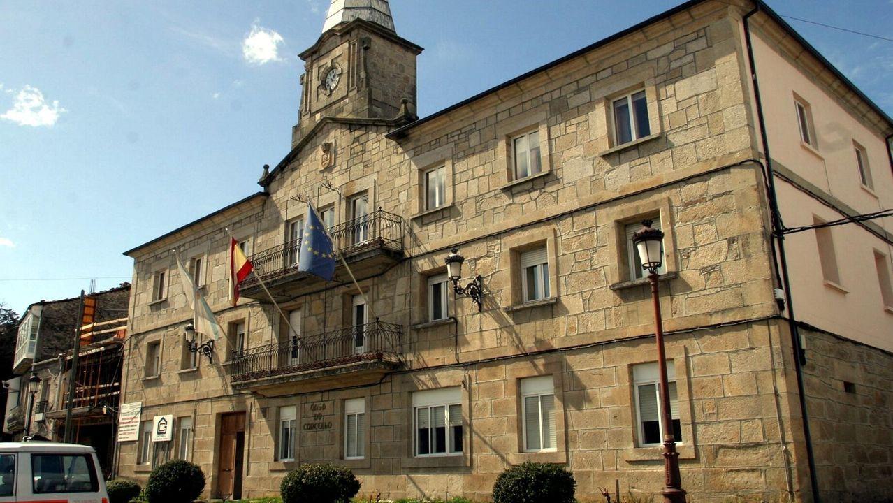 Bendición virtual de ramos en la plaza de la Ferrería en Pontevedra.Bendición virtual del Domingo de Ramos desde la Ferrería