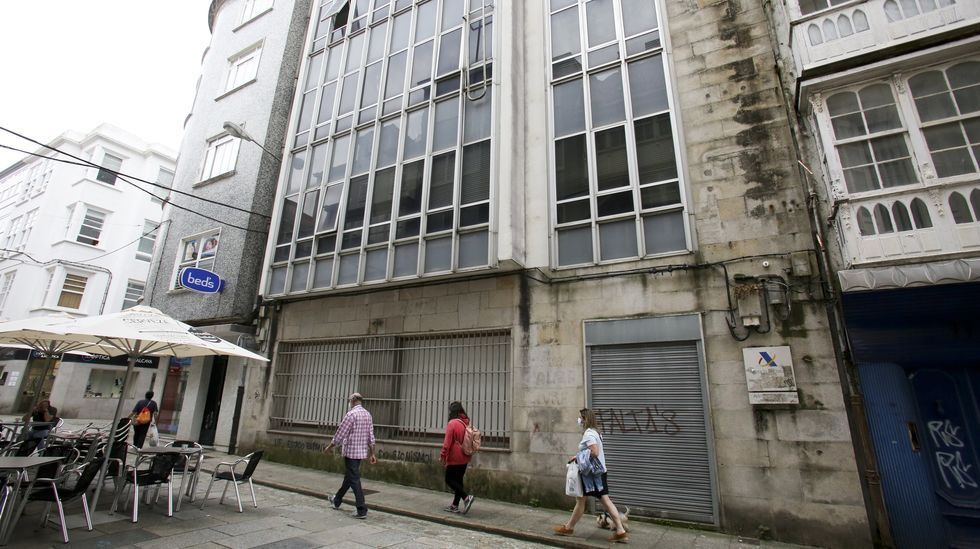 El edificio de la calle Magdalena se abandonó en 2006 por el traslado de Hacienda a Telleiras