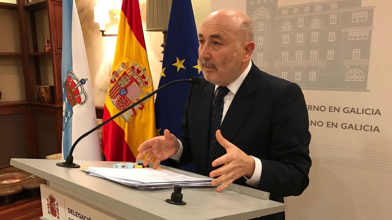 El delegado del Gobierno presidió este martes en A Coruña la comisión que analiza la seguridad en los centros escolares de Galicia