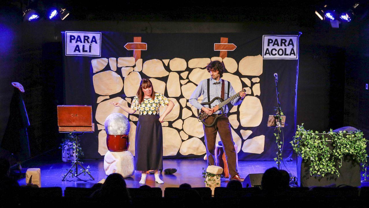 Charo Pita, durante una actuación, el año pasado