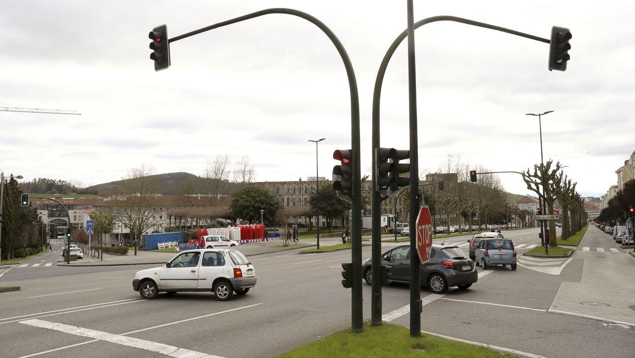 Atascos en la avenida de Lugo en horas punta.Mónica Díaz, guía turística profesional de Lugo