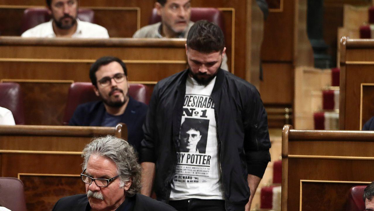 Otro pleno bronco en el Congreso: Entre el «Viva Galiza Ceive» de Rufián y el «Viva la Guardia Civil