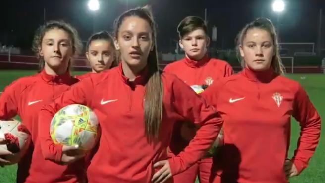 Jugadoras Sporting femenino