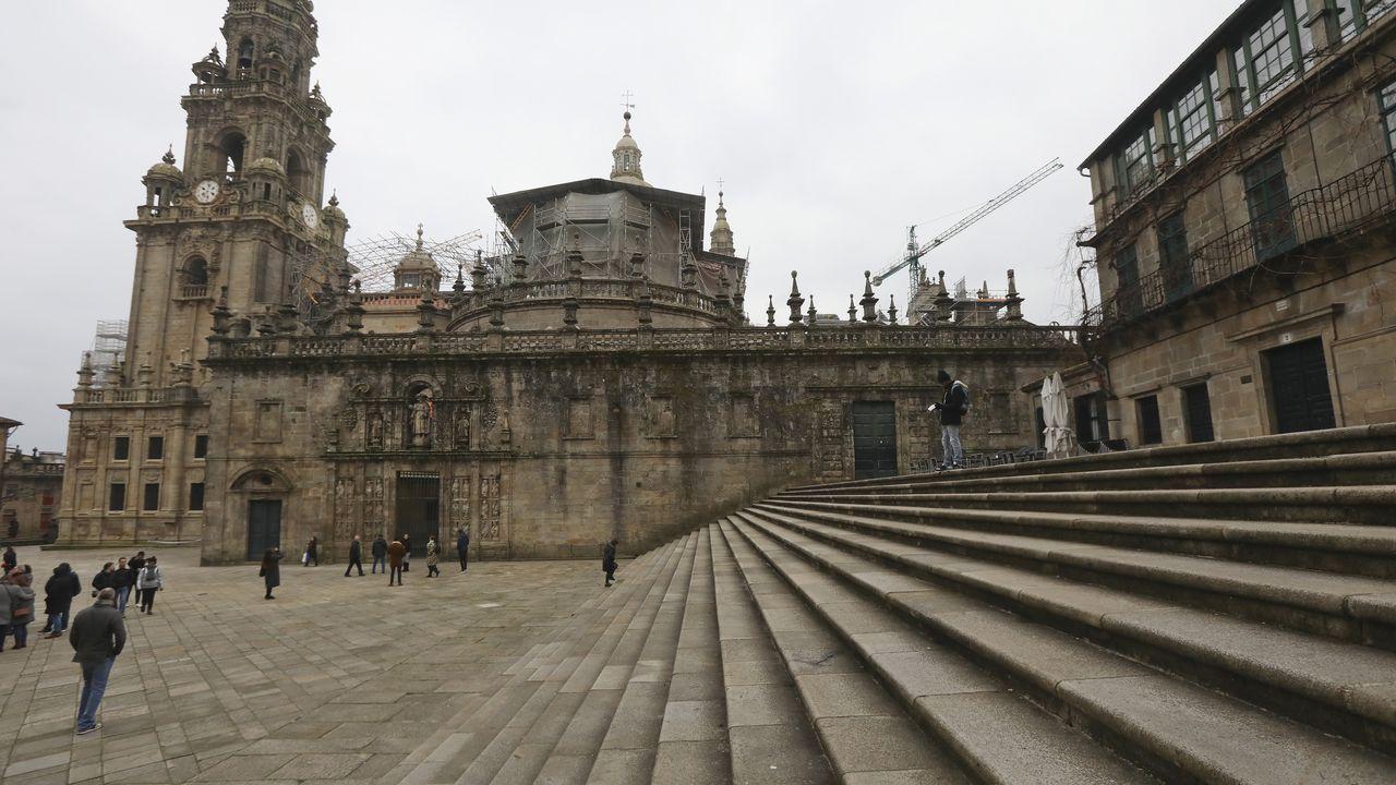 La imponente escalinata resguardó durante siglos los restos del proyecto del arzobispo Juan Arias