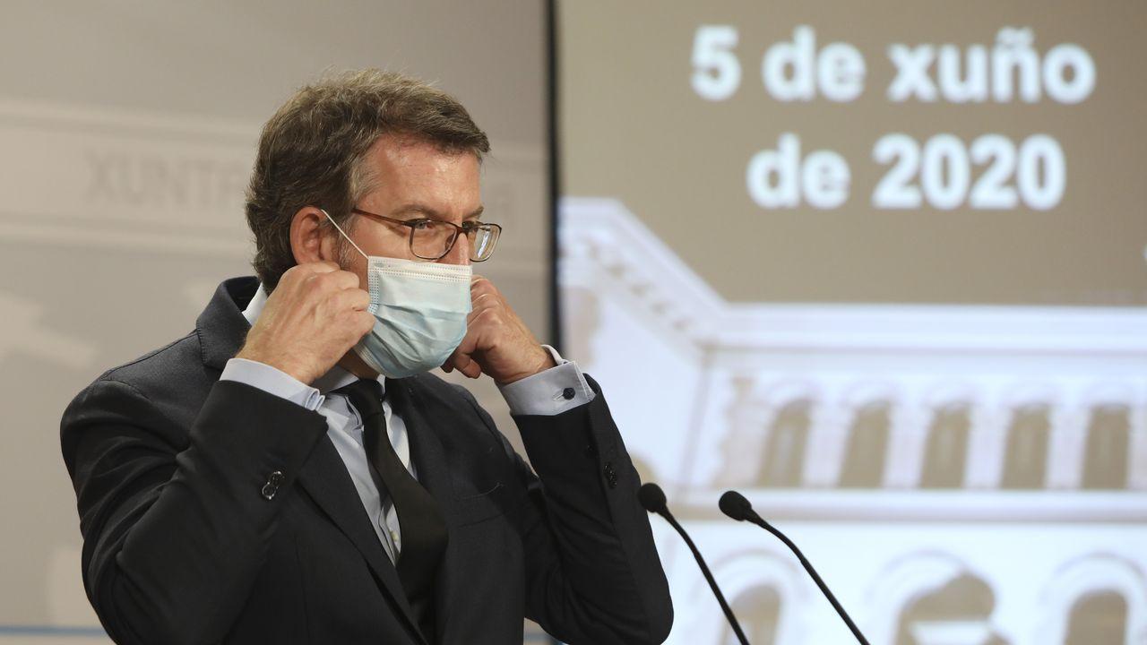 Núñez Feijoo: «Cumprimos todos os requisitos para deixar sen efecto o estado de alarma».Pleno del Parlamento de Galicia en una imagen de archivo