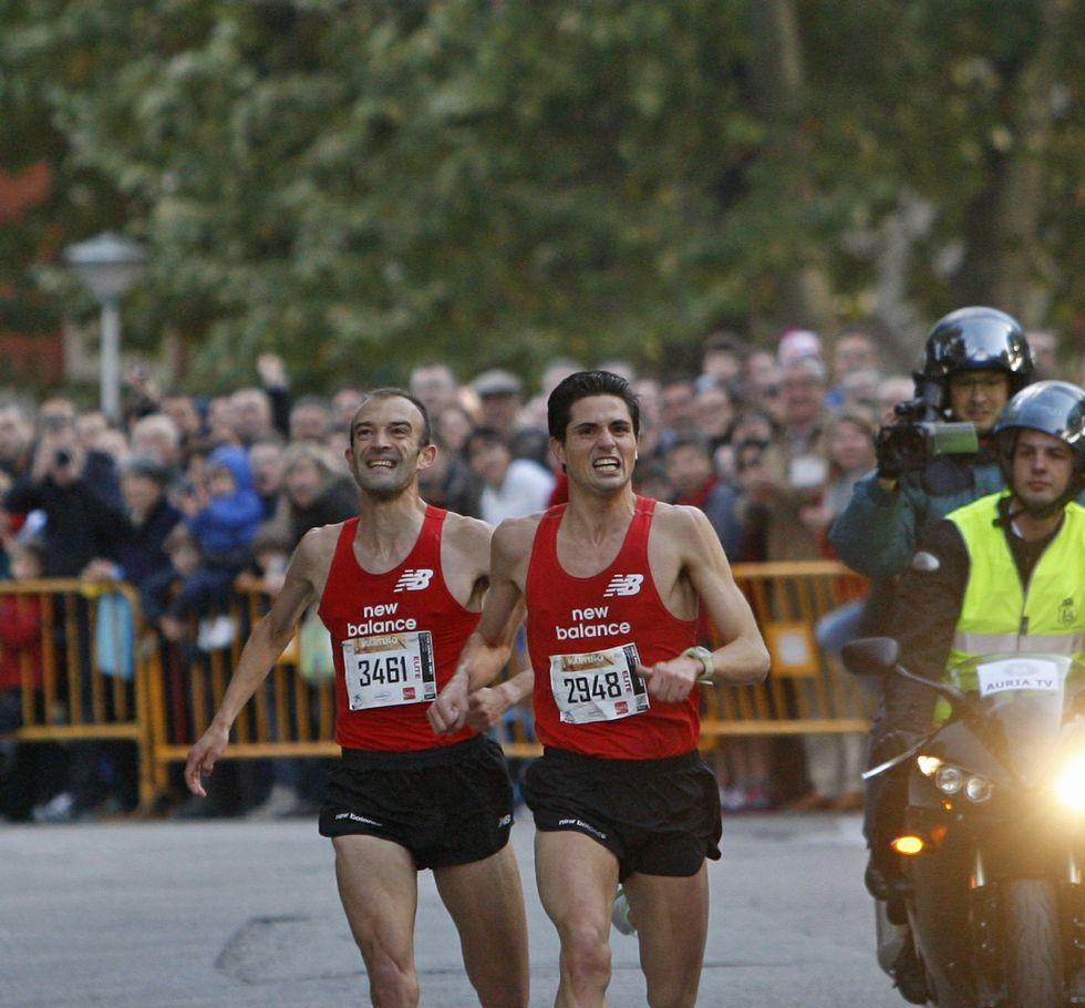 Alejandro Fernández, a punto de vomitar en un concierto.El atleta ourensano se impuso en meta a Lolo Penas para lograr su último triunfo, en 2013.