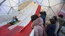 El tobogán gigante de la Praza de Santa María cierra sus puertas el martes 7