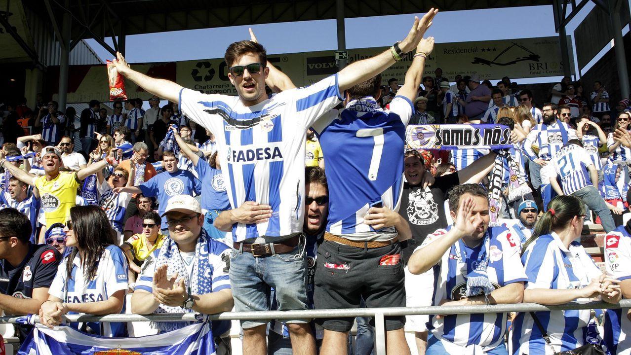 Imagen del derbi de la pasada temporada en el estadio Ángel Carro