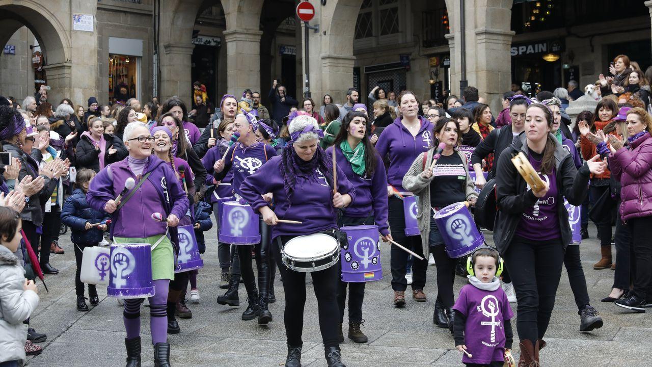 8M en Ourense.La Marcha Mundial das Mulleres recorrió la ciudad con su manifestación reivindicativa