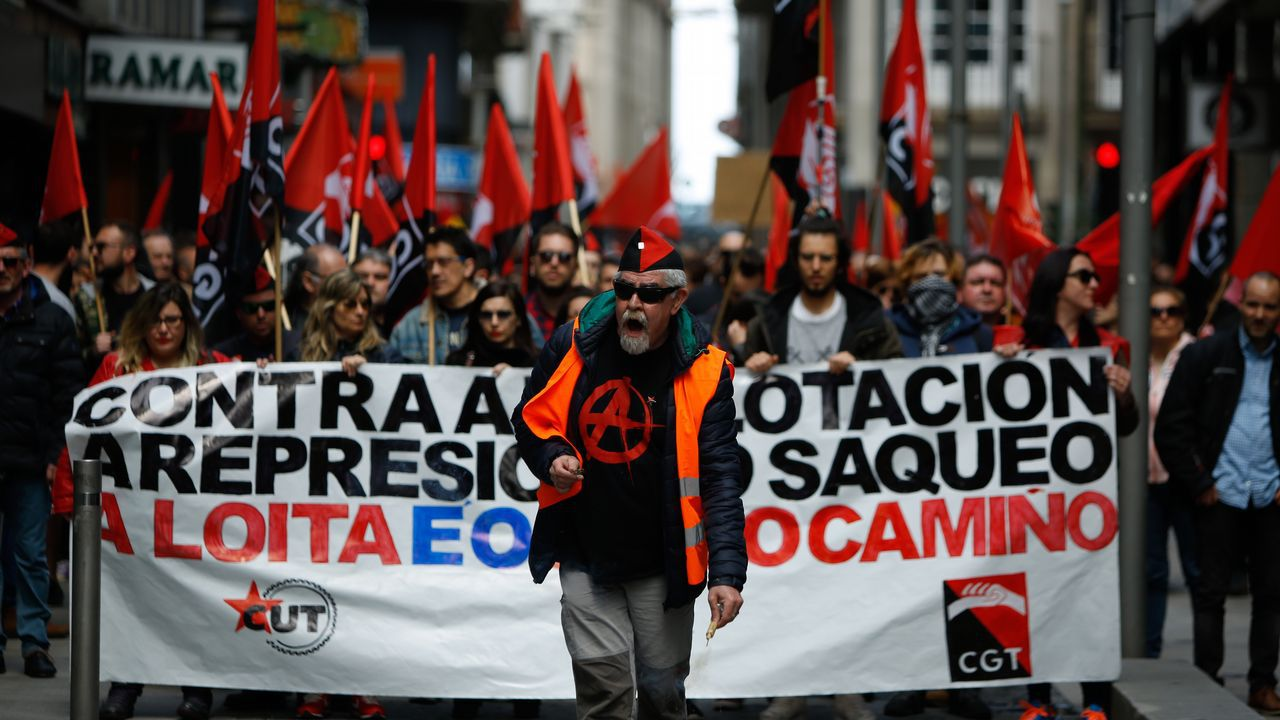 Dia del Trabajo. Manifestación por el 1 de Mayo en A Coruña