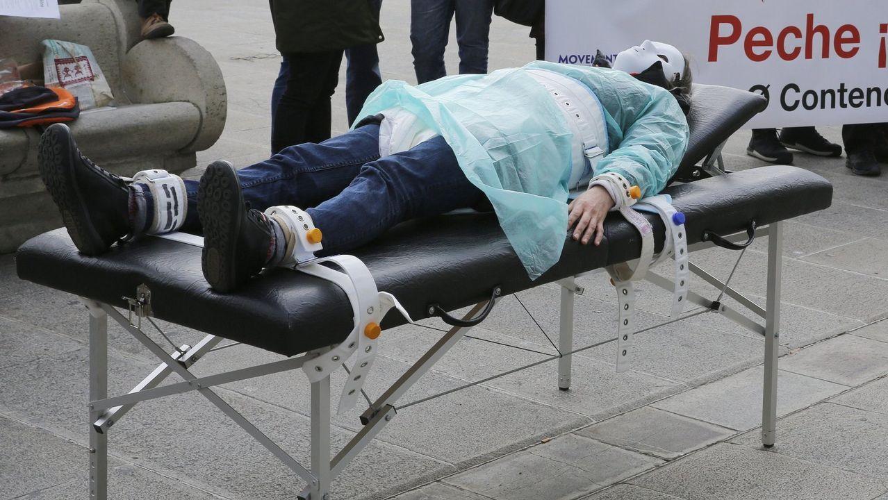 Imagen de archivo de una protesta por el uso de contención mecánica en caso de pacientes con trastornos psíquicos