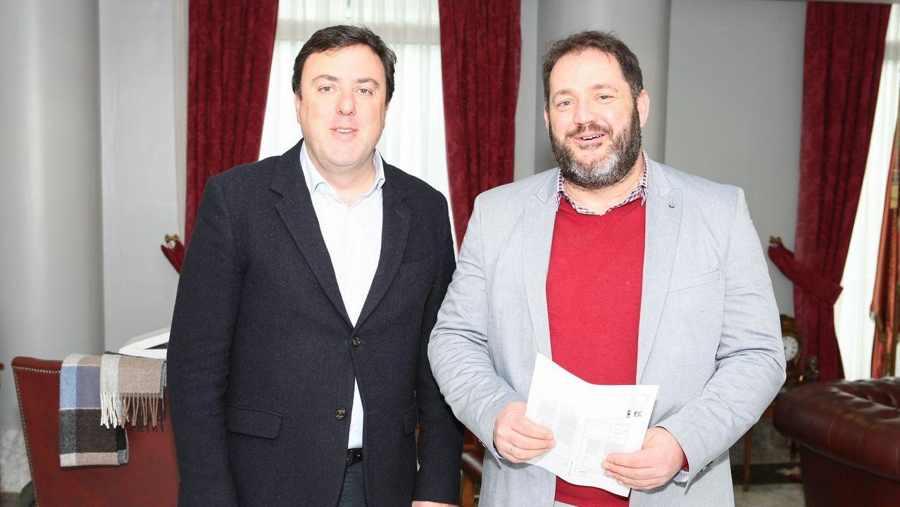 Pleno ordinario del mes de enero en Vigo.Gómez Besteiro acudiendo a los juzgados de Lugo a principios del año pasado para declarar como imputado por el caso Garañón