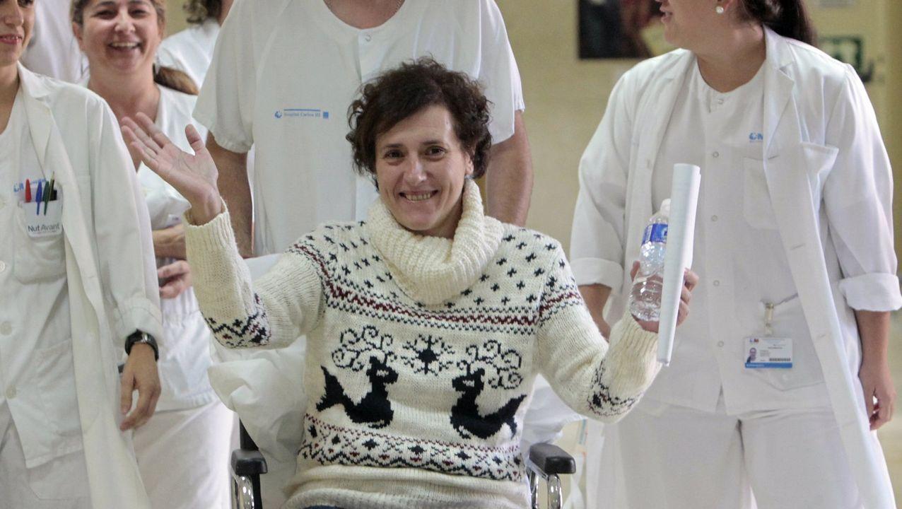 Teresa Romero, luego de recibir el alta tras infectarse con el virus del ébola