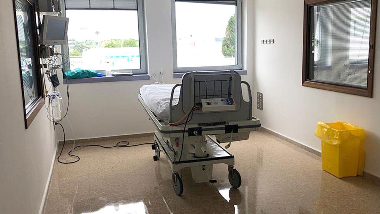 Uno de los siete nuevos boxes individuales del Hospital Universitario de San Agustín, en Avilés