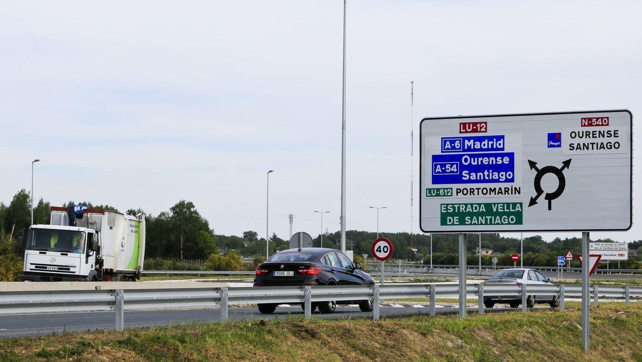 La personas auxiliada en Lugo se adentró en la LU-12 en dirección a la autovía a Santiago
