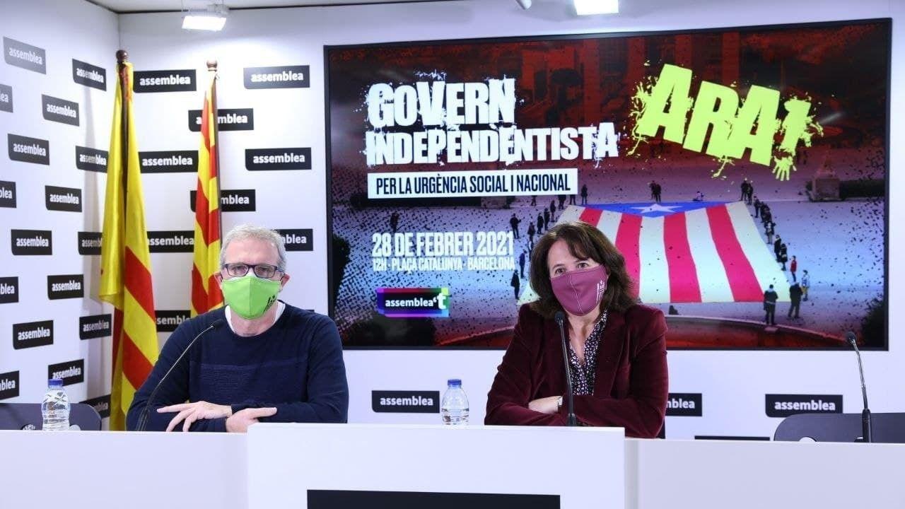El vicepresidente de la ANC, David Fernández, y la presidenta Elisenda Paluzie