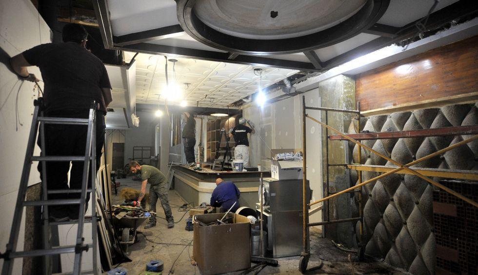 Imágenes del FIlandón de O Courel.Las obras del local en el que reabrió el Beirut en el 2012 están en marcha.