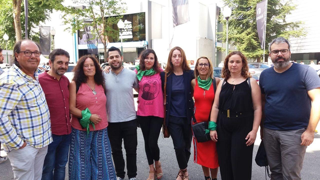 Responsables de Somos Oviedo, Xixón Sí Puede y Podemos Asturies en la Fidma
