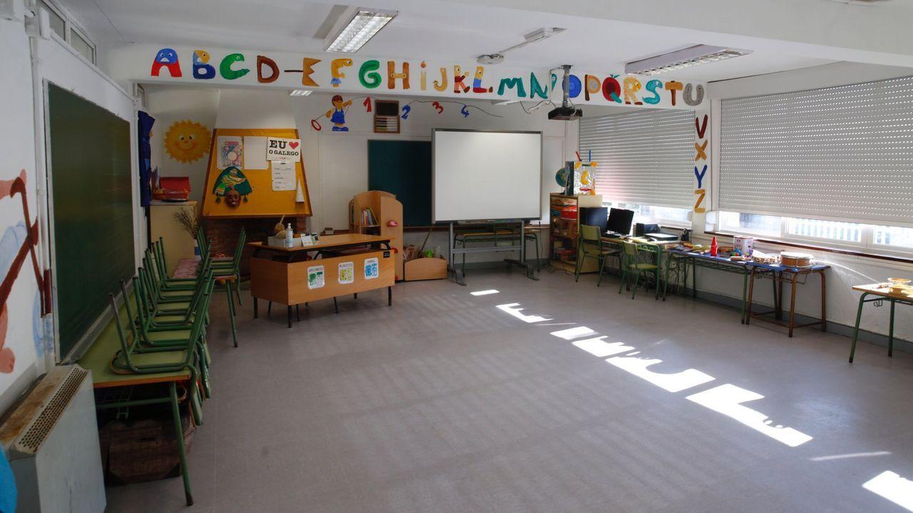 Imagen de archivo de un aula vacía